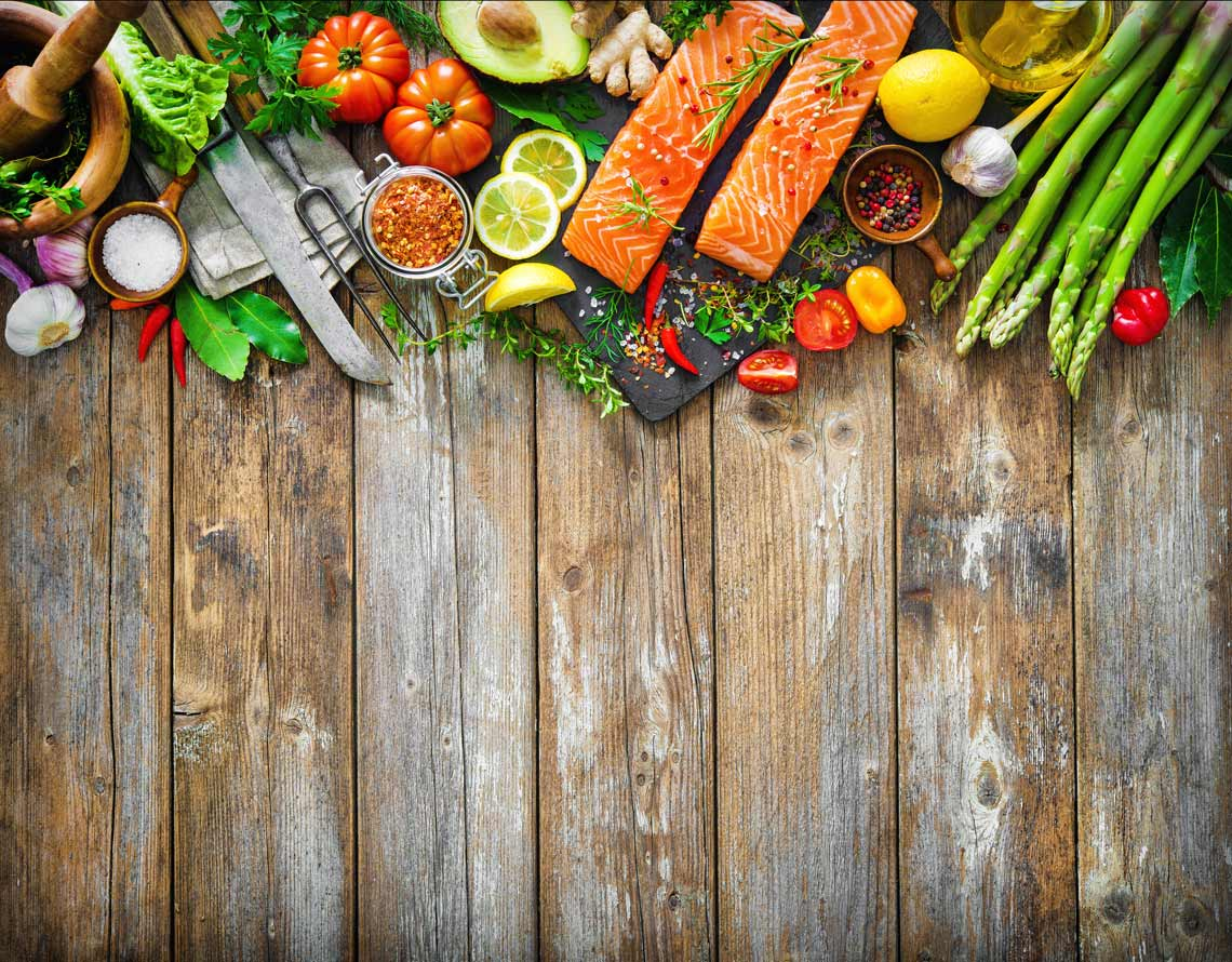 salmon ingredients on a cutting board 1140x890