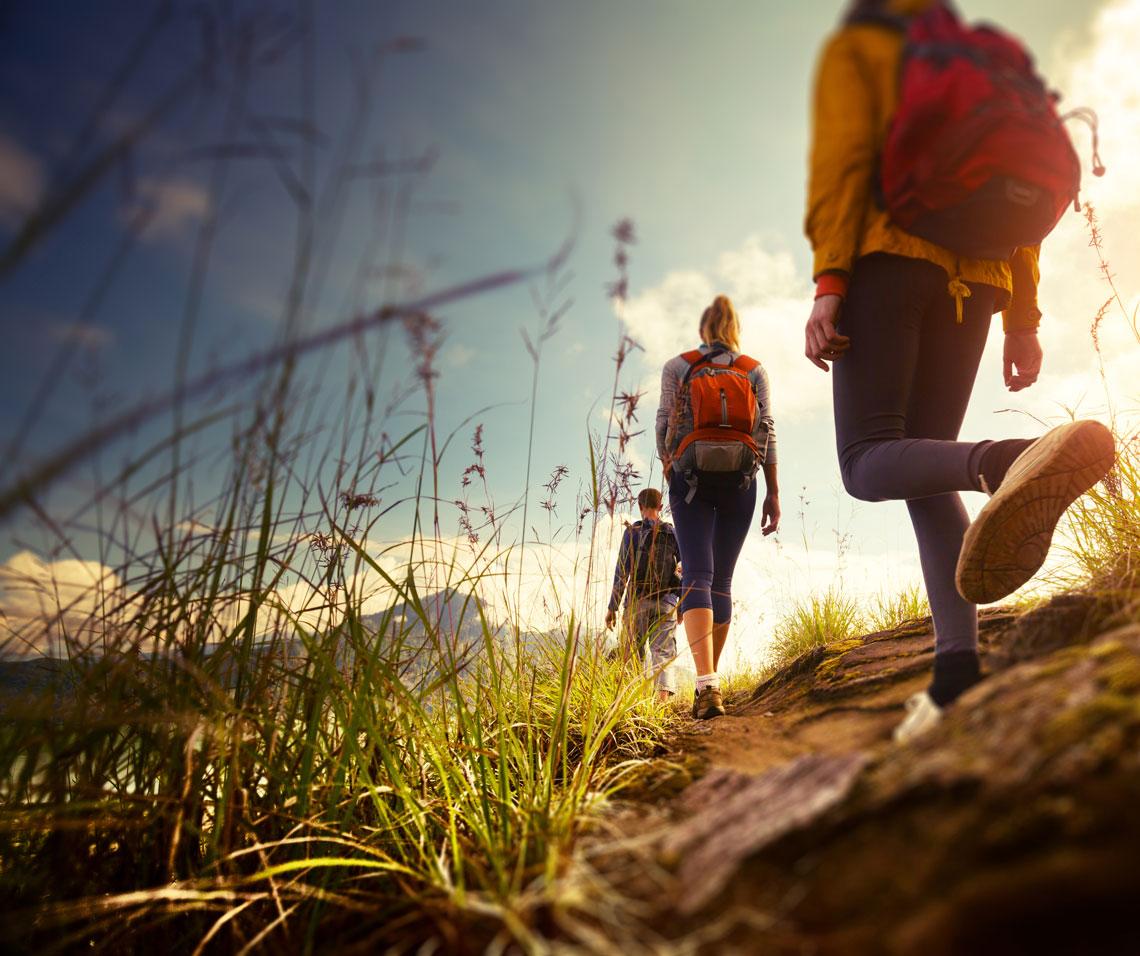 individual wellness: hiking